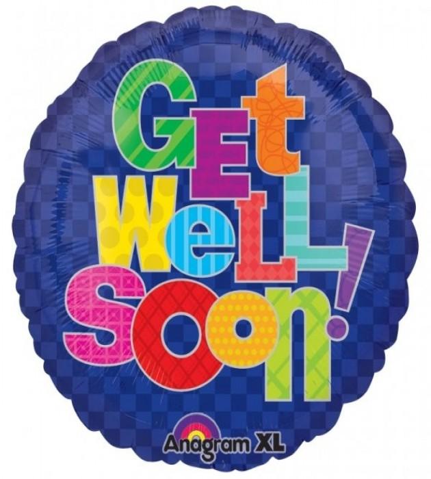 "Get Well Soon! 18"" Foil Balloon"