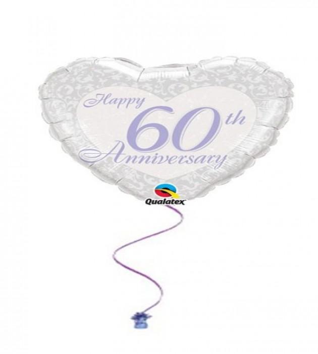 """Happy 60th Anniversary 18"""" Foil"""