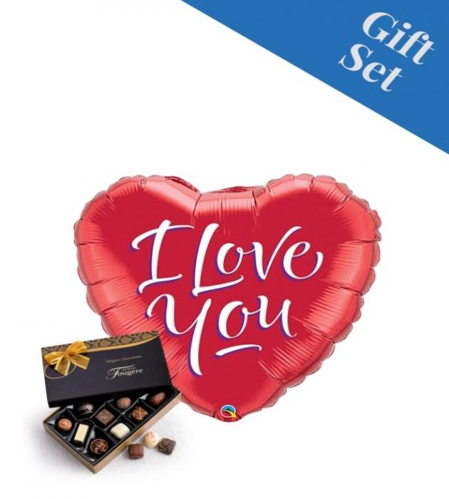 "I Love You Script 18"" Foil Balloon"