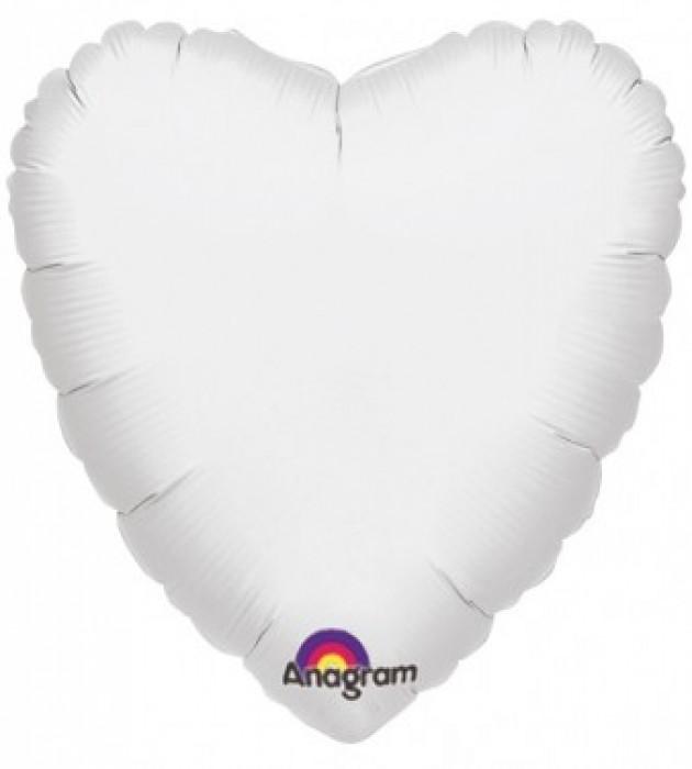 """White H 18"""" Foil Balloon in a Box"""