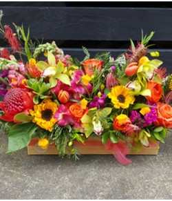 Colourful Flower Crate