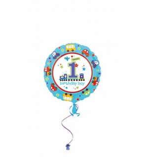 All Aboard Bday Foil Balloon 18in