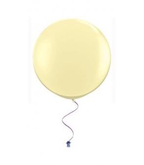 Plain circle balloons ivory