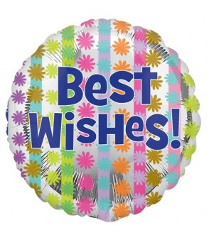 "Best Wishes Bright 18"" Foil"