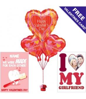 Valentine's Day Balloons - Big Hearts