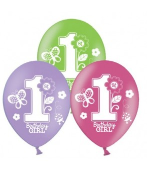 Sweet Birthday Girl AOP Latex Balloons