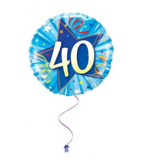 Blue 40th Birthday Foil