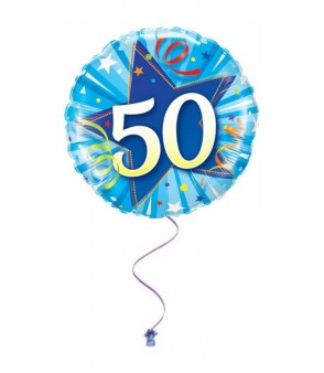 Blue 50th Birthday Foil