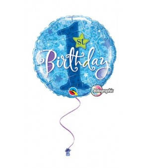 "1st Birthday Blue Bright 18"" Foil"
