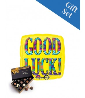 Bold Yellow Good Luck Square Foil