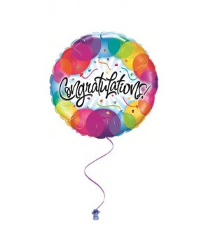 Congratulations Balloon pattern 18""