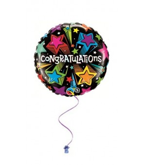 "Congratulations shooting stars 18"" Foil"