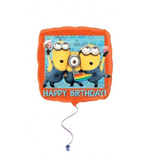 Despicable Me Happy Birthday Square Foil Balloon 18in