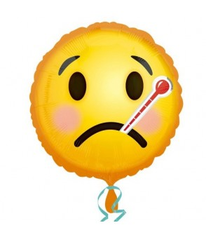 Emoticon Get Well Soon Foil Balloon 18in