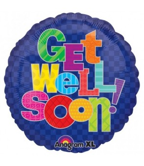 "Get Well Soon! 18"" Foil Balloon"