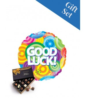 Good Luck Colourful Circles Foil Balloon
