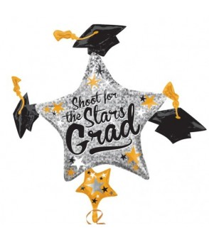 Grad Cap Cluster Super Shape Balloon