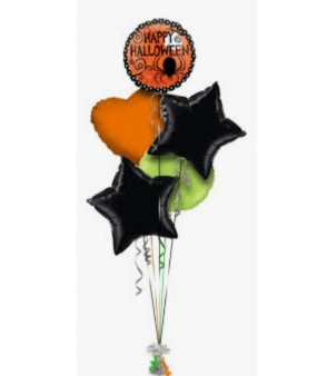 Halloween Balloon Bouquet (5 Balloons)