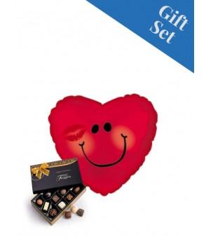 Love Smiley Face 18' Foil Balloon & Chocs