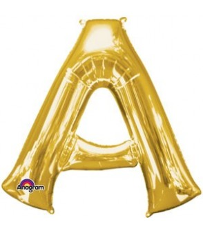 Letter A Gold SuperShape Balloon