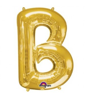Letter B Gold SuperShape Balloon