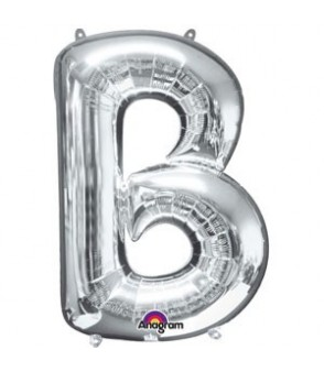 Letter B Silver SuperShape Balloon