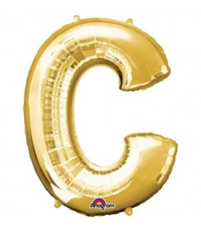 Letter C Gold SuperShape Balloon