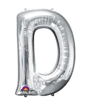 Letter D Silver SuperShape Balloon