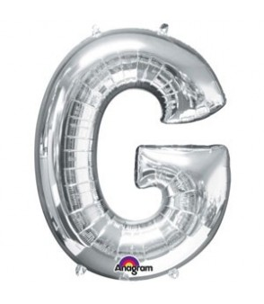 Letter G Silver SuperShape Balloon