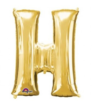 Letter H Gold SuperShape Balloon