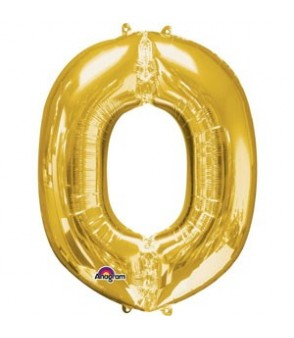Letter O Gold SuperShape Balloon