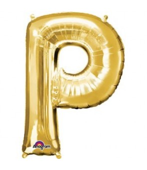 Letter P Gold SuperShape Balloon
