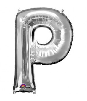 Letter P Silver SuperShape Balloon