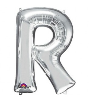 Letter R Silver SuperShape Balloon