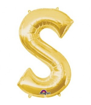 Letter S Gold SuperShape Balloon