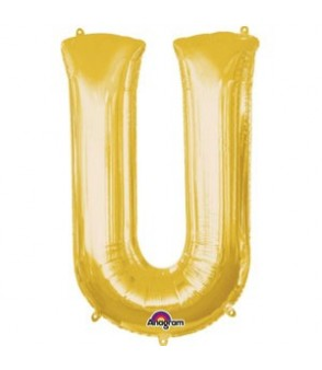 Letter U Gold SuperShape Balloon