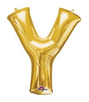 Letter Y Gold SuperShape Balloon