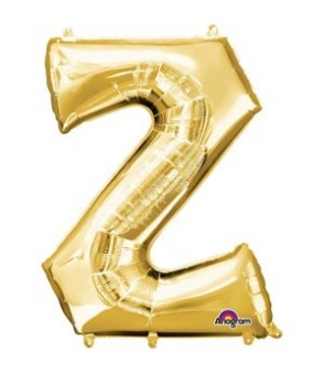 Letter Z Gold SuperShape Balloon