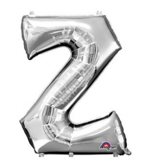 Letter Z Silver SuperShape Foil Balloon