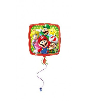 Mario Bros. Square Foil Balloon 18in