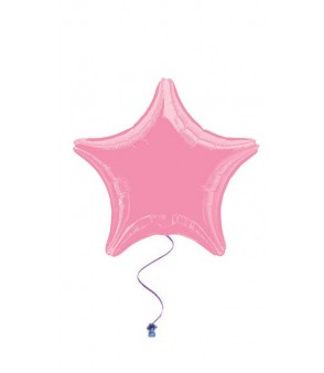 Metallic Pink Star Foil Balloon