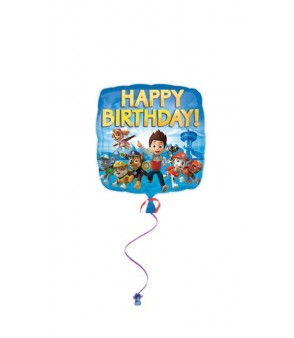 Paw Patrol Happy Birthday Square Balloon 18in