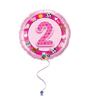 "Pink 2nd Birthday 18"" Foil"