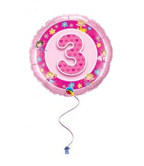 Pink 3rd Birthday Foil