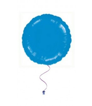 Plain circle balloons blue