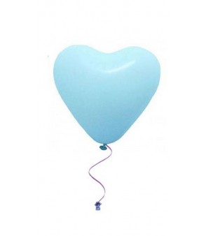 Plain heart balloons blue