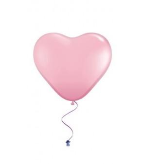 Plain heart balloons pink