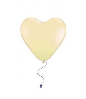 Plain heart balloons ivory