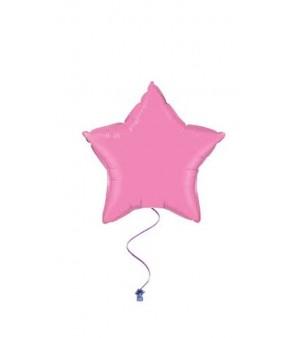 Plain star balloons pink