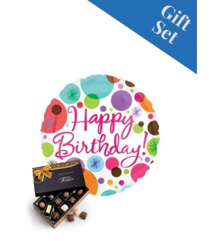 "Happy Birthday Polka Dots 18"" Foil"